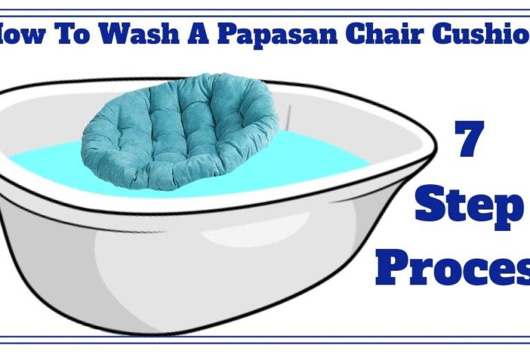 How to wash a papasan chair cushion