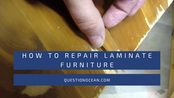 how to repair laminate furniture