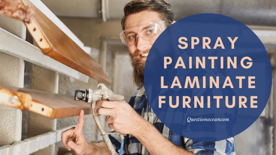 how to spray paint laminate furniture