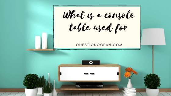 console table as tv stand